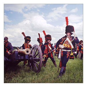 "Reenactors on the Borodino field. Military-historical holiday ""The resistant tin soldier"", photo and video. Swiss infantry rehearsal"