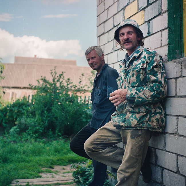 Ivan with a friend, village Alushkovo